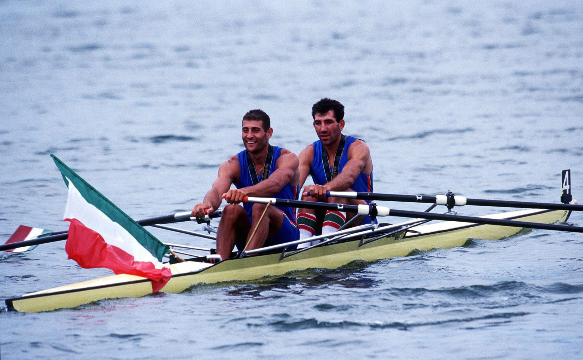Italy's double Olympic rowing champion Davide Tizzano, left, will be the first Torchbearer of the Naples 2019 Summer Universiade Torch Relay when it is lit in Turin tomorrow © Getty Images