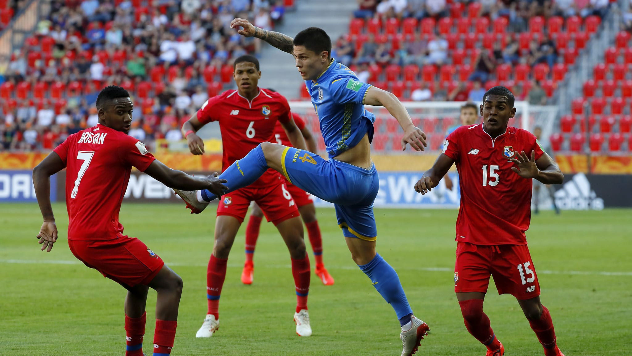 Ukraine are through to the last eight of the FIFA Under-20 World Cup after a 4-1 victory over Panama in Tychy ©Getty Images
