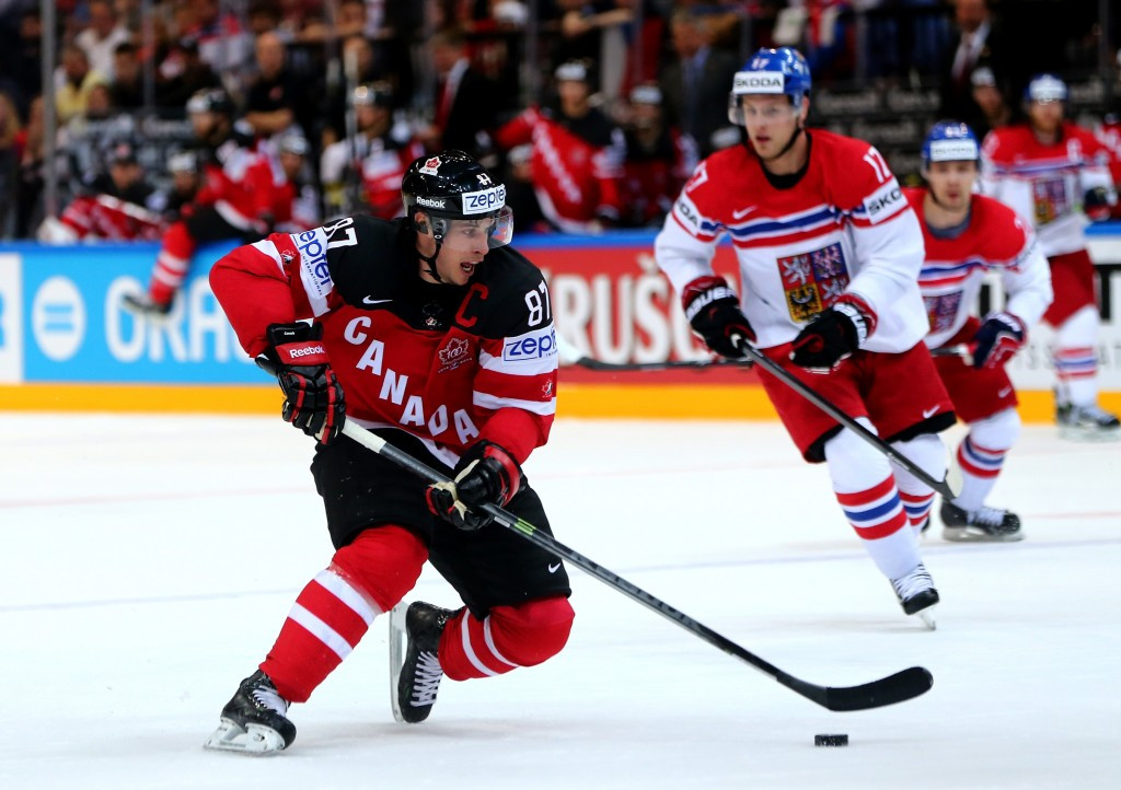 Olympic champions Canada remain at the top of Group A after defeating their Czech hosts 6-3