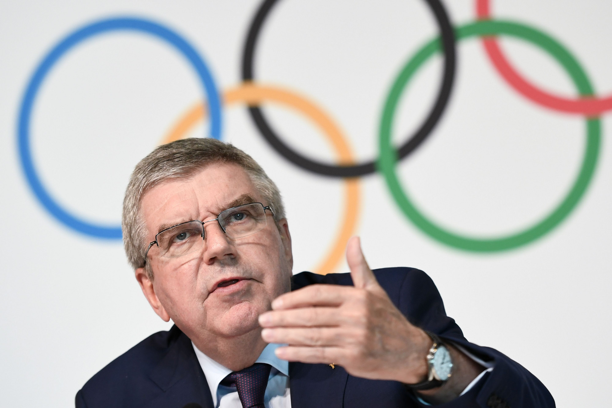 IOC President Thomas Bach in April recommended athletes begin discussions with their NOCs regarding Rule 40 ©Getty Images