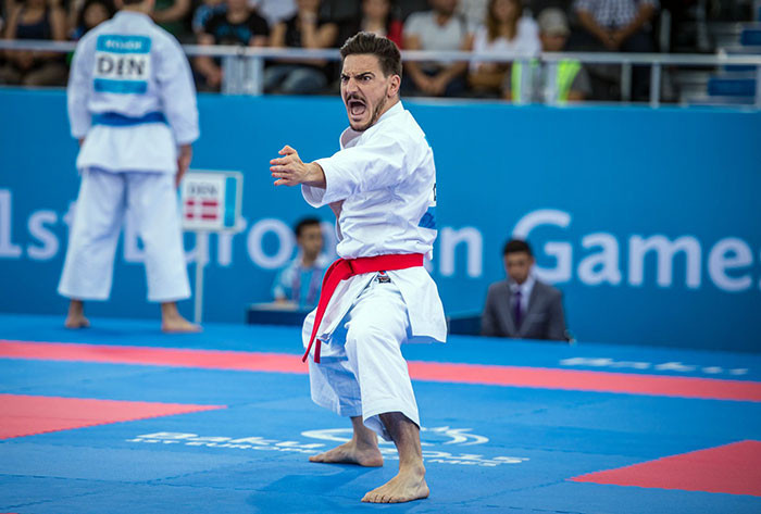 Spain's Damian Quintero will defend his European Games title in Minsk this month at what will be the first multi-sport event to feature the WKF's new kata rules ©WKF