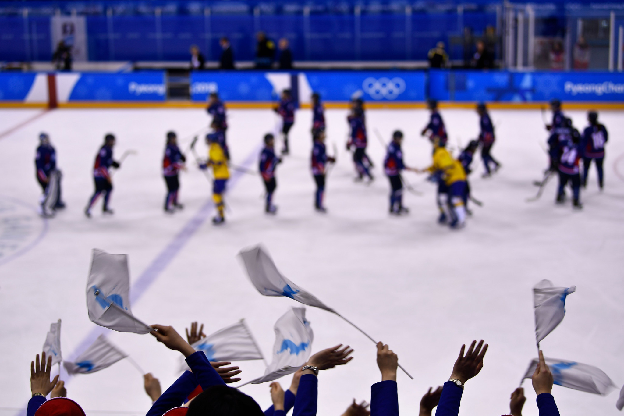 North and South Korea fielded a unified ice hockey team at the Pyeongchang 2018 Winter Olympic Games ©Getty Images