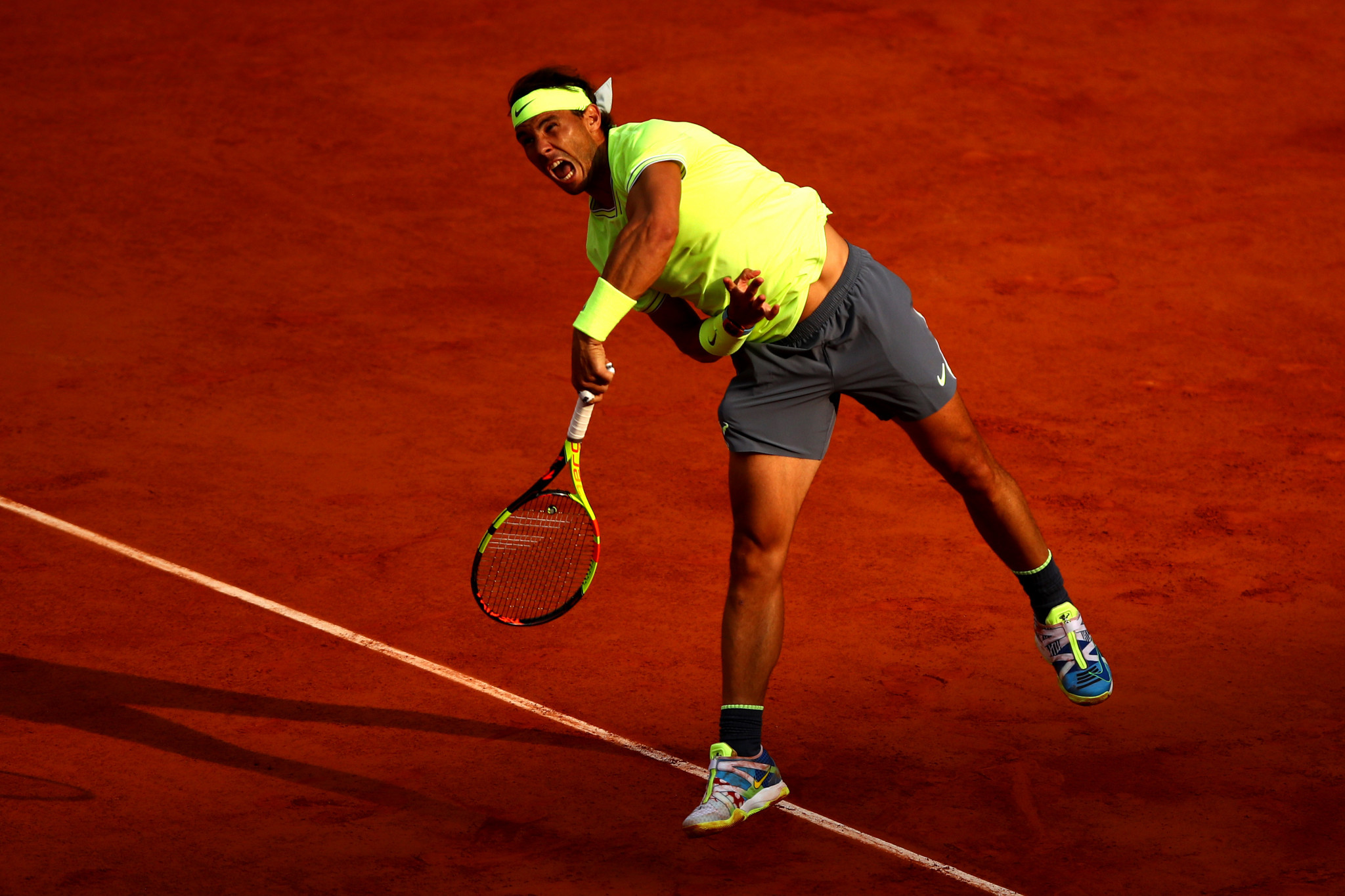 Rafael Nadal eased into the last four with a 6-1, 6-1, 6-3 victory over Japanese number seven seed Kei Nishikori ©Getty Images