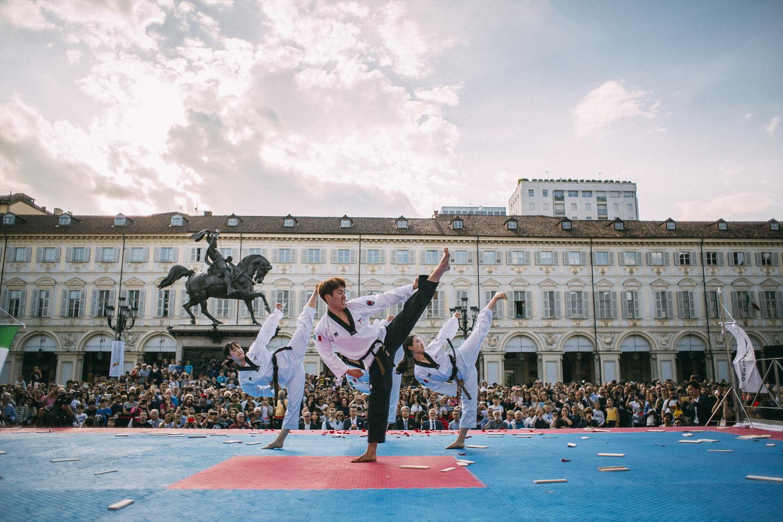 World Taekwondo demonstration team reach halfway point of Italy tour