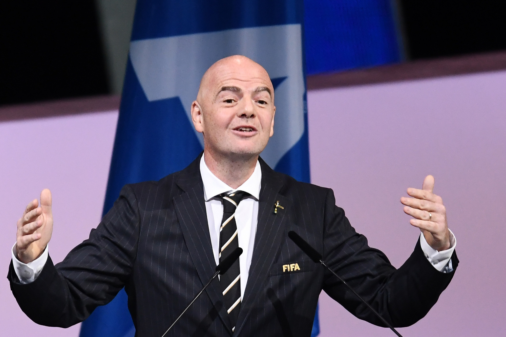 Gianni Infantino has been re-elected FIFA President ©Getty Images