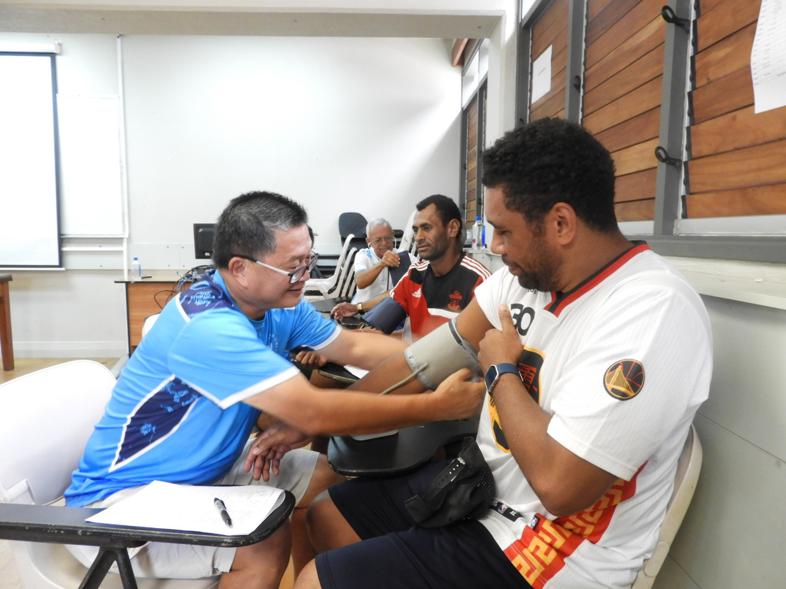 Fijian athletes and officials due to parcipate in next month's Samoa 2019 Pacific Games have undergone a final medical screening at the headquarters of their National Olympic Committee, FASANOC ©fasanoc.org