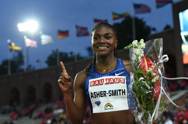 Britain's Dina Asher-Smith, twice a winner over 200 metres in this season's IAAF Diamond League series, will seek a third victory over 100m in Rome tomorrow night ©Getty Images