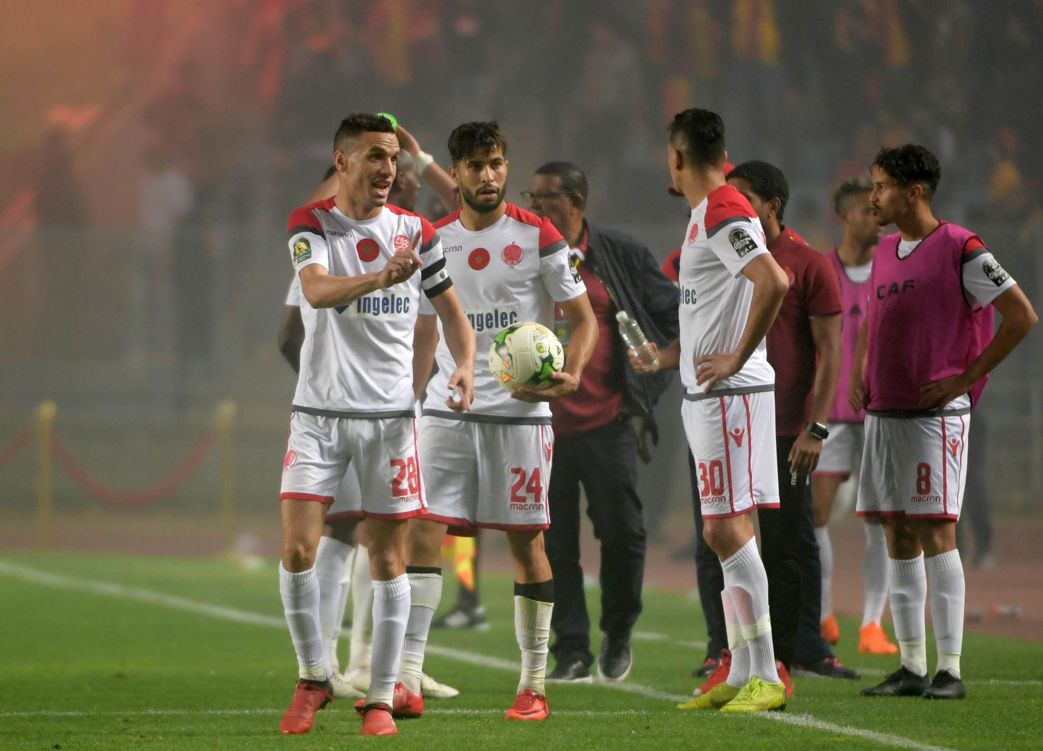 Wydad Casablanca's players refused to continue the match and Esperance were awarded the victory ©Getty Images