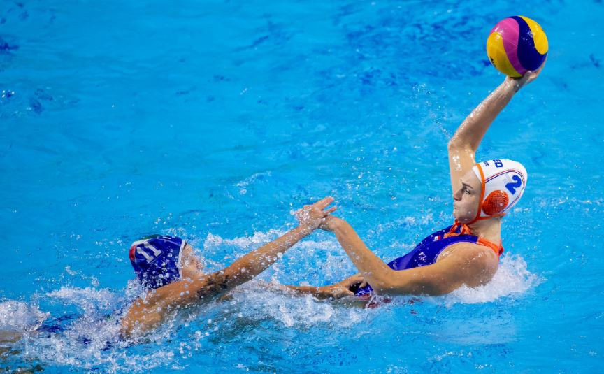 Italy chalked up their second win in two days with a defensive display against the Netherlands at the International Swimming Federation Women's Water Polo World League Super Final in Budapest, Hungary ©FINA