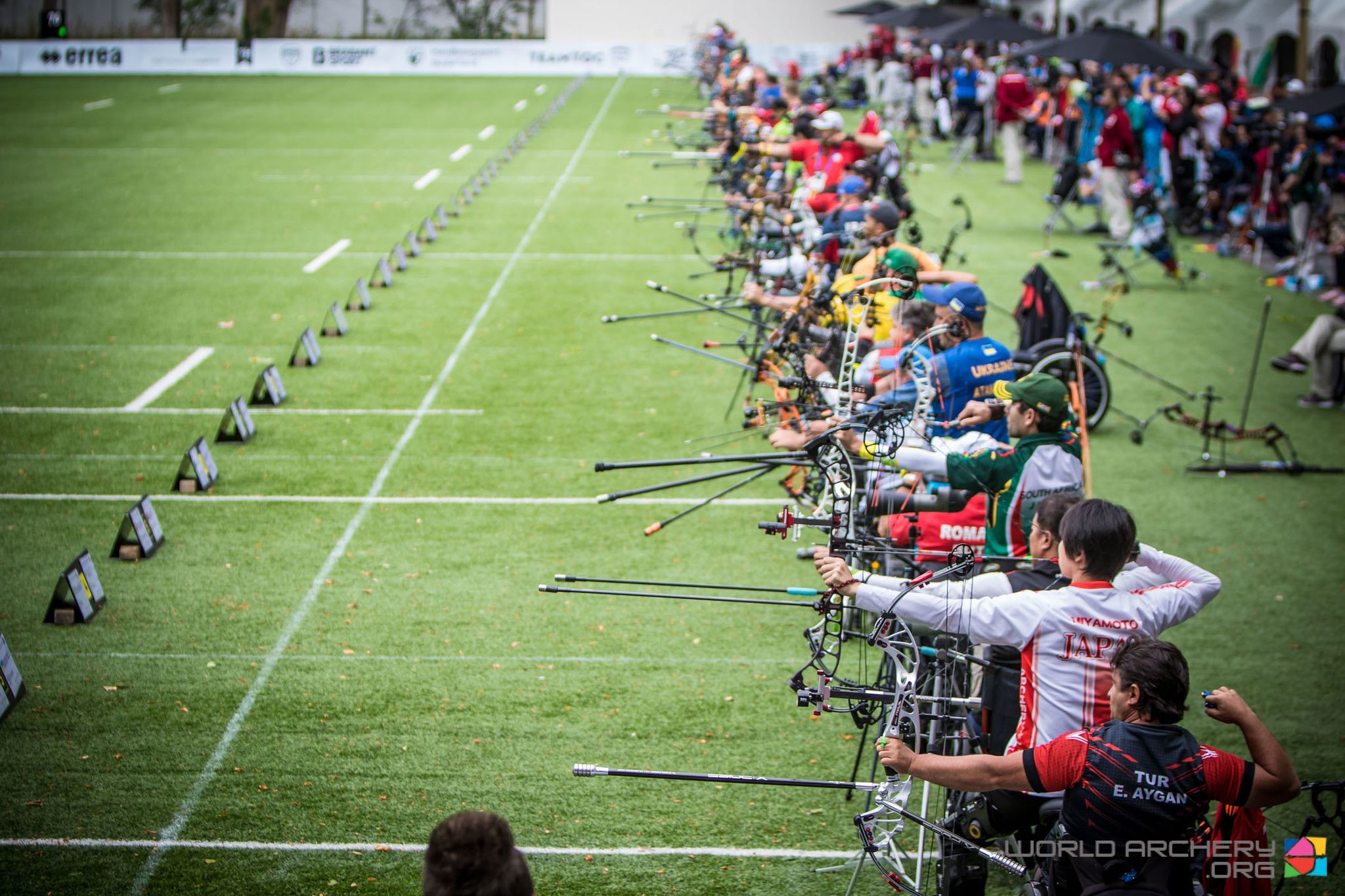 World records for Ukraine and China in team matchplay at World Archery Para Championships in the Netherlands