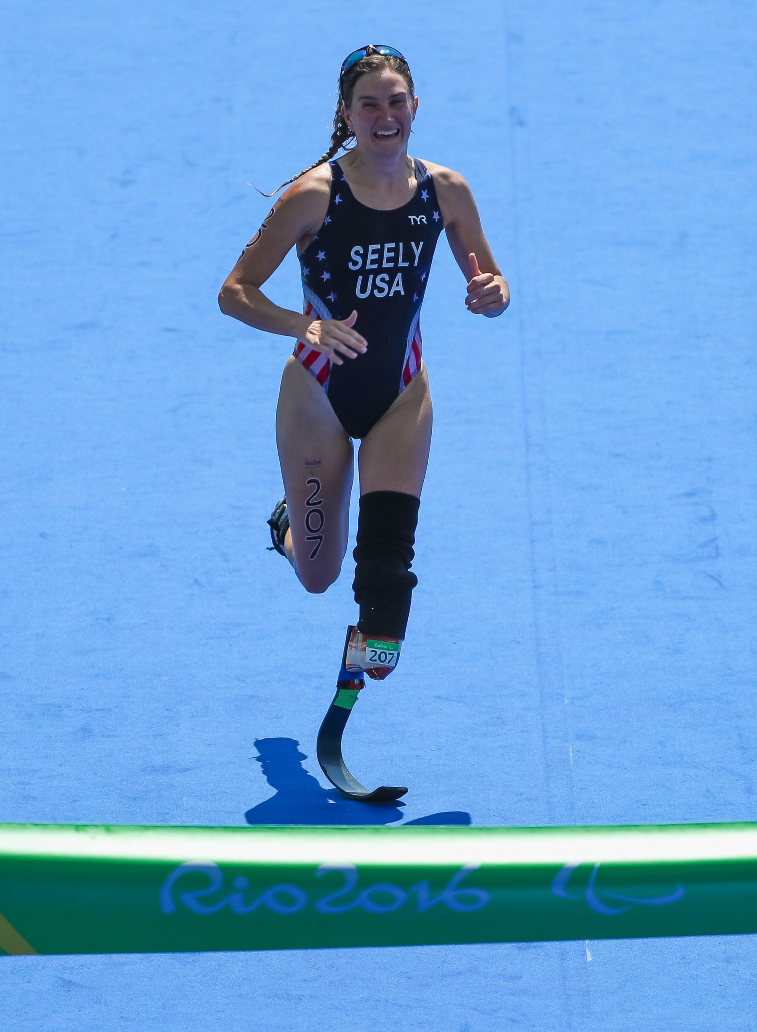 The United States' Allysa Seely has been named among the nominations for the Americas Paralympic Committee athlete-of-the-month award for May ©Getty Images