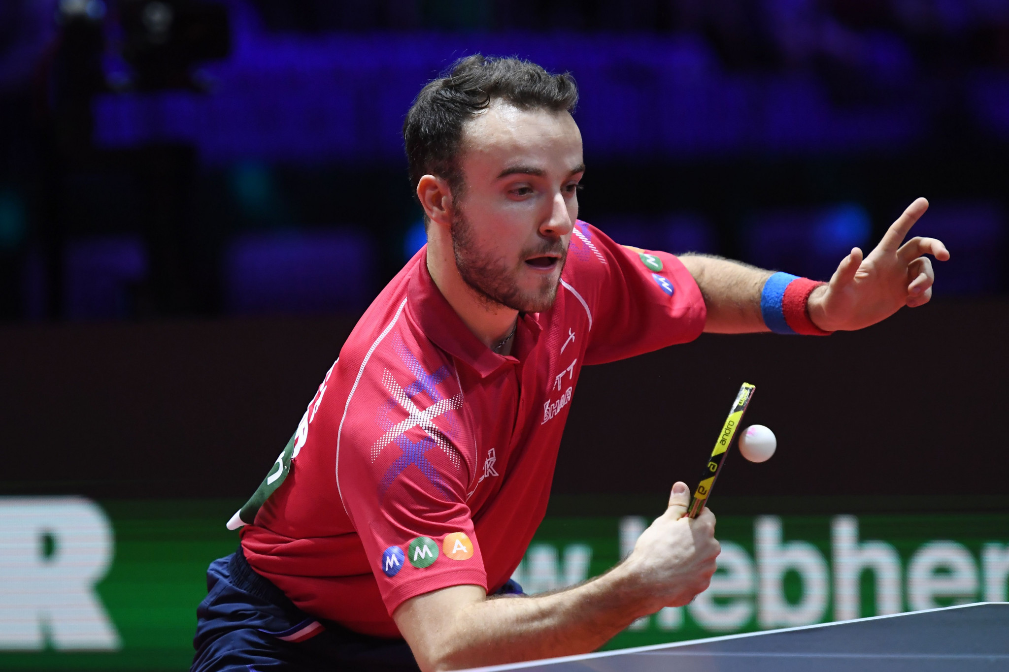 France's Simon Gauzy beat South Korea's Lee Sang-su for the second time in the space of seven days to book his place in the round of 16 at the ITTF Hong Kong Open ©Getty Images