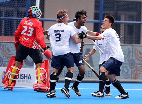 The United States beat South Africa 2-0 in the Pool B opener ©FIH