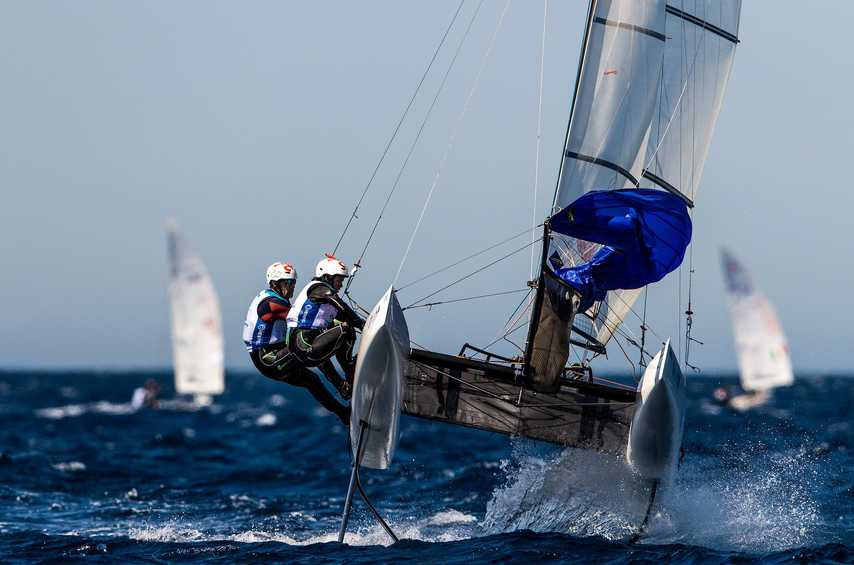 Moderated winds enabled a full day of racing at the World Series Cup Final in Marseille ©World Racing