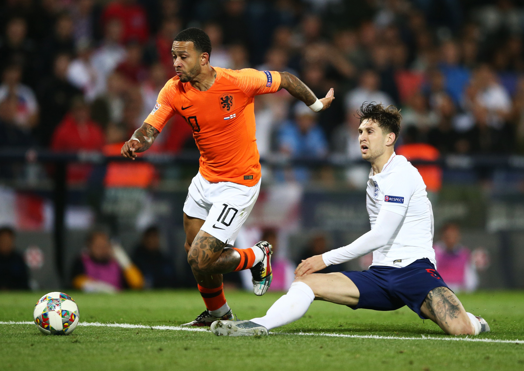 Two extra-time mistakes from John Stones proved costly to England as they lost 3-1 to the Netherlands in the UEFA Nations League ©Getty Images
