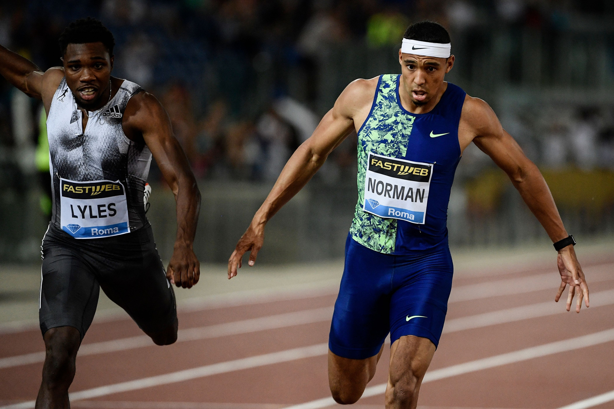 Norman wins super-fast 200m duel with Lyles at Rome Diamond League meeting
