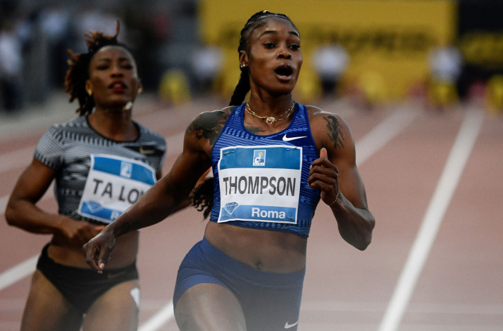 Jamaica's Olympic 100m and 200m champion Elaine Thompson was an unstoppable force once again over the shorter distance in winning at the IAAF Diamond League in Rome in 10.89sec ©Getty Images