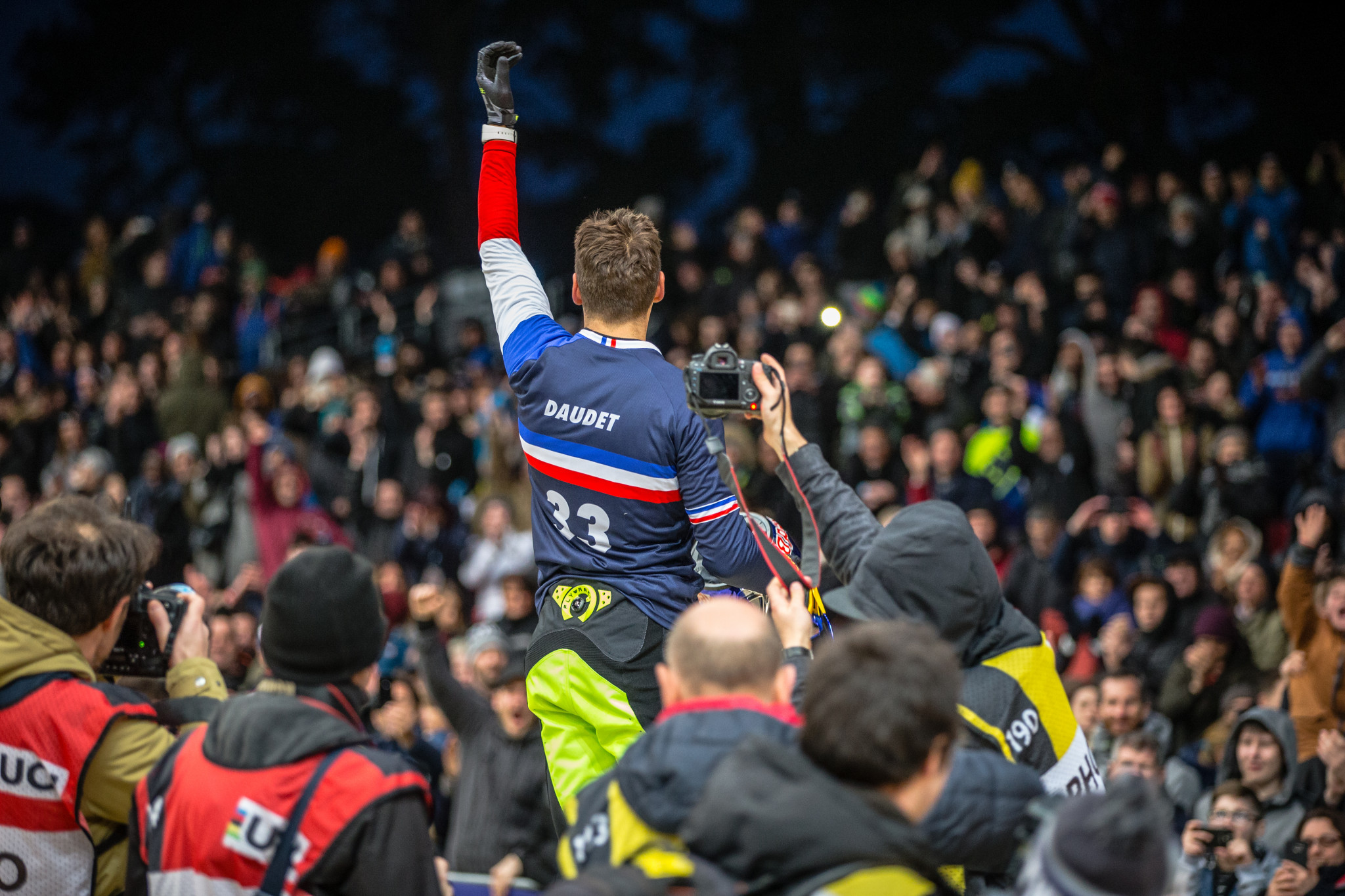 Frenchman Joris Daudet leads the International Cycling Union BMX Supercross World Cup rankings ©Craig Dutton