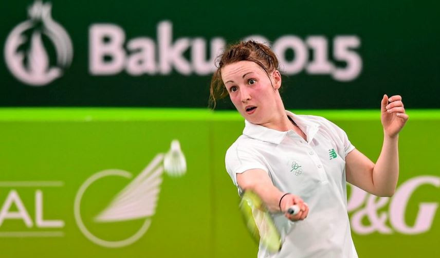Chloe Magee won a bronze medal in the mixed doubles at the inaugural European Games in Baku, Azerbaijan in 2015 ©Getty Images