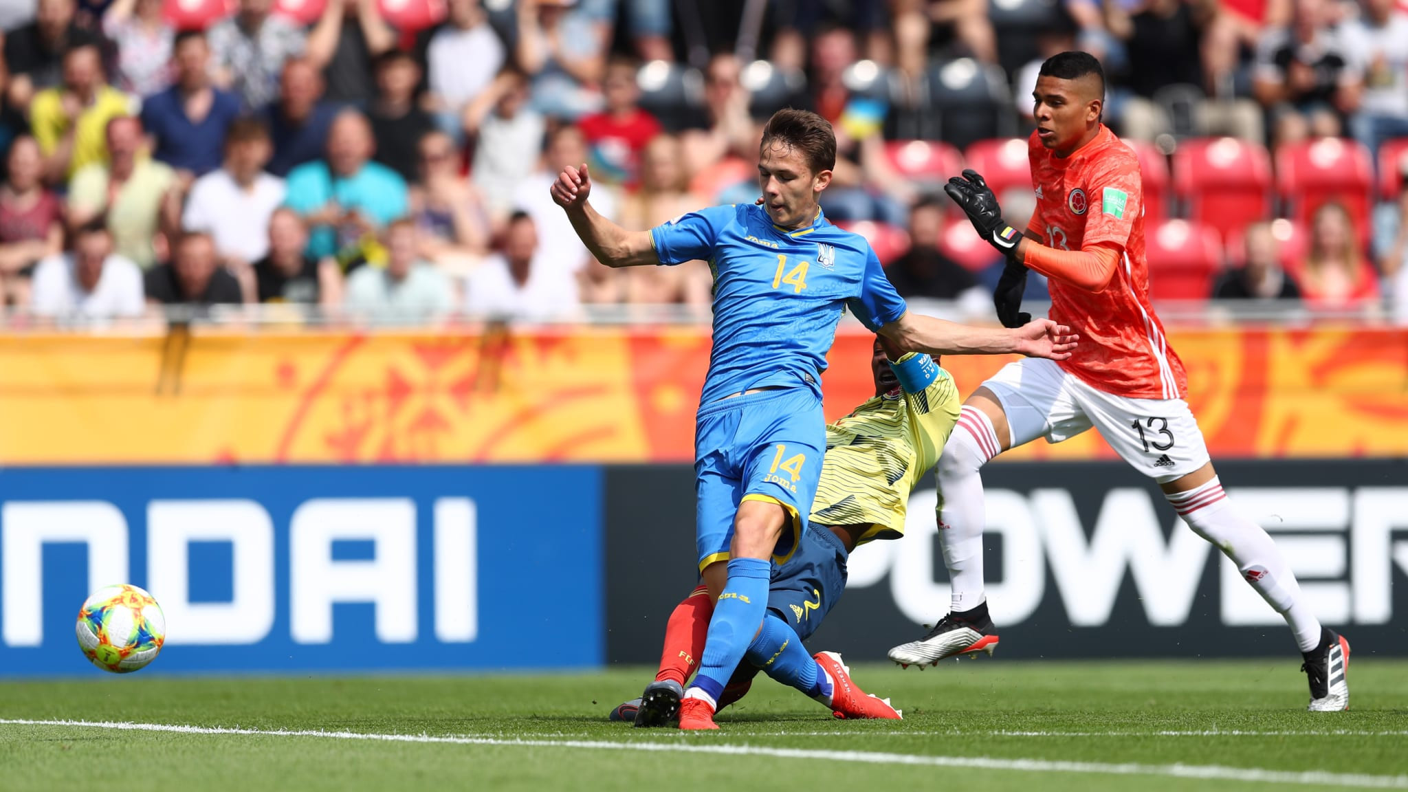 Danylo Sikan scored the only goal as Ukraine beat Colombia at the Under-20 World Cup ©Getty Images