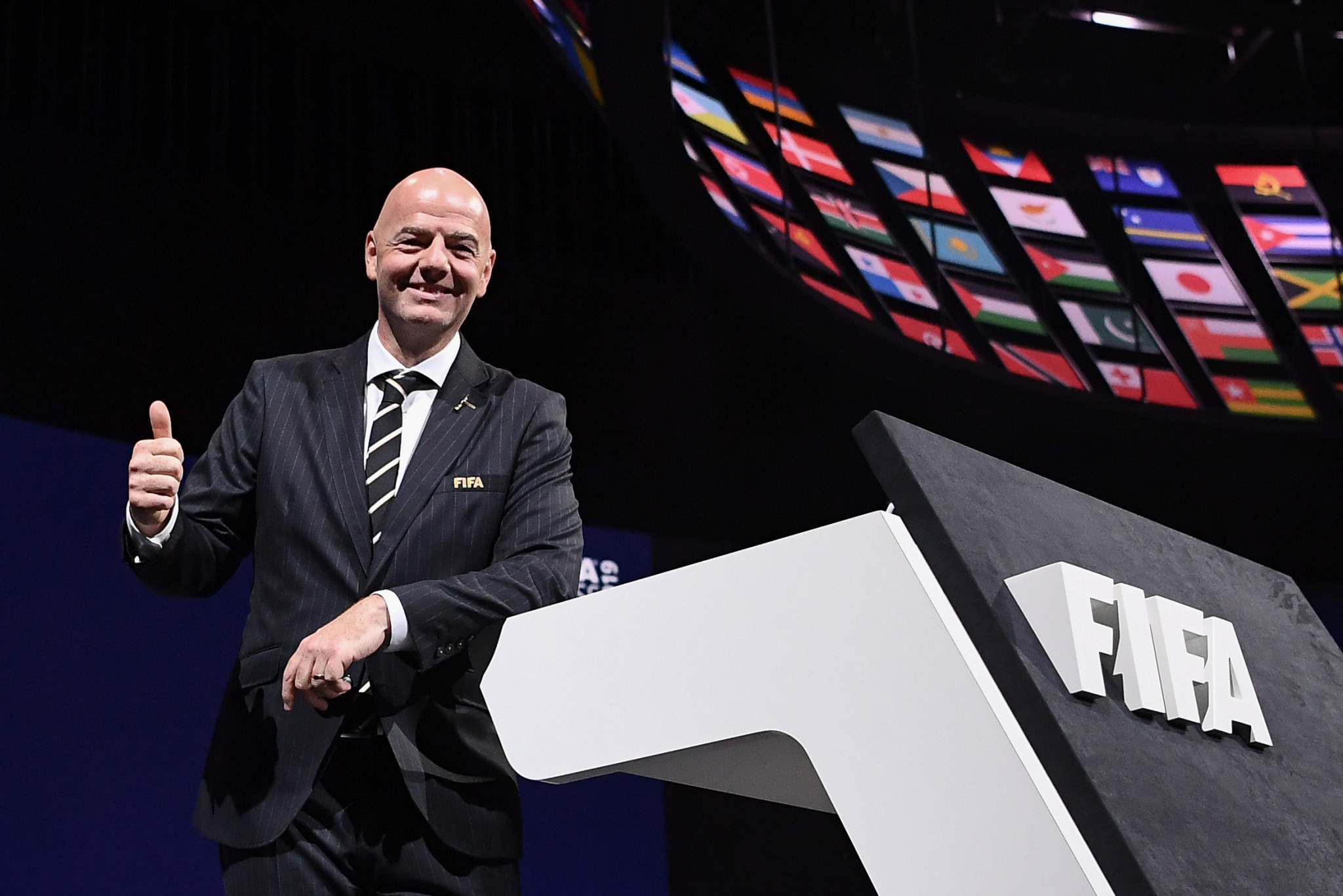 FIFA President Gianni Infantino was re-elected for a second term at the FIFA Congress on Tuesday but already the organisation is embroiled in a new corruption scandal ©Getty Images