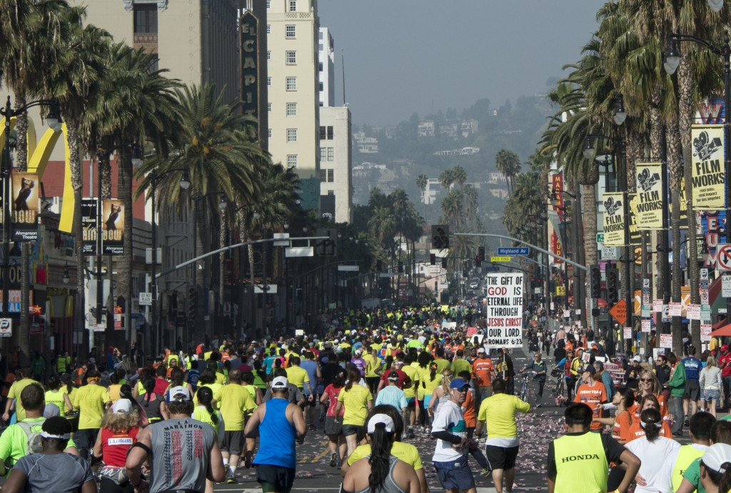 Around 20,000 people participate in the Los Angeles Marathon every year ©Getty Images