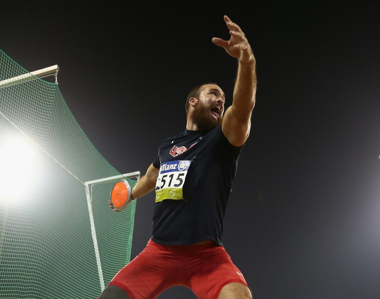 The United States' three-times world F64 discus champion Jeremy Campbell took gold with a huge 61.48m ©Getty Images