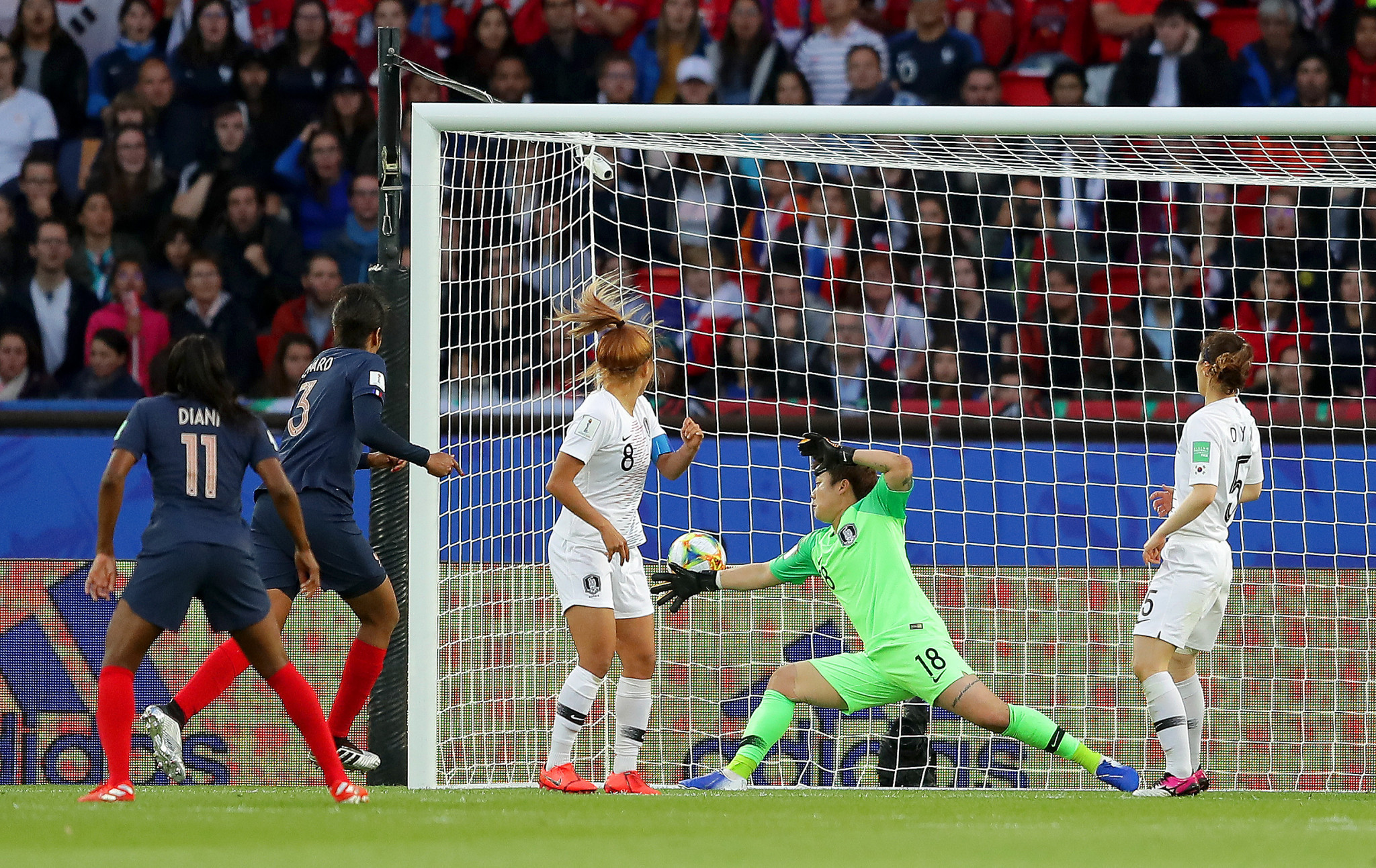 Wendie Renard scored two goals in France's 4-0 defeat of South Korea at the FIFA Women's World Cup ©Getty Images