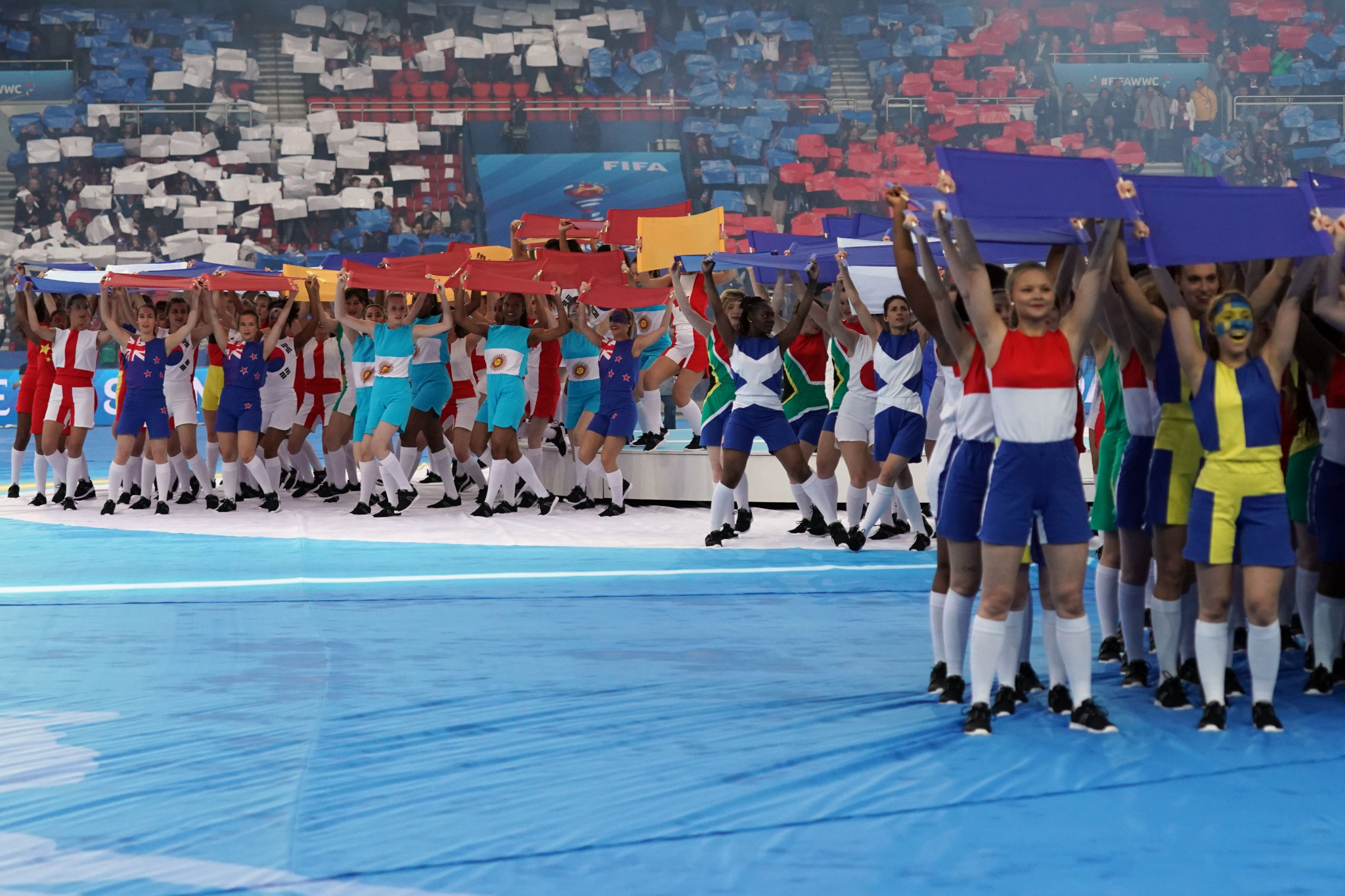 As the first match of the 2019 FIFA Women's World Cup, a brief Opening Ceremony took place before the game begun ©Getty Images