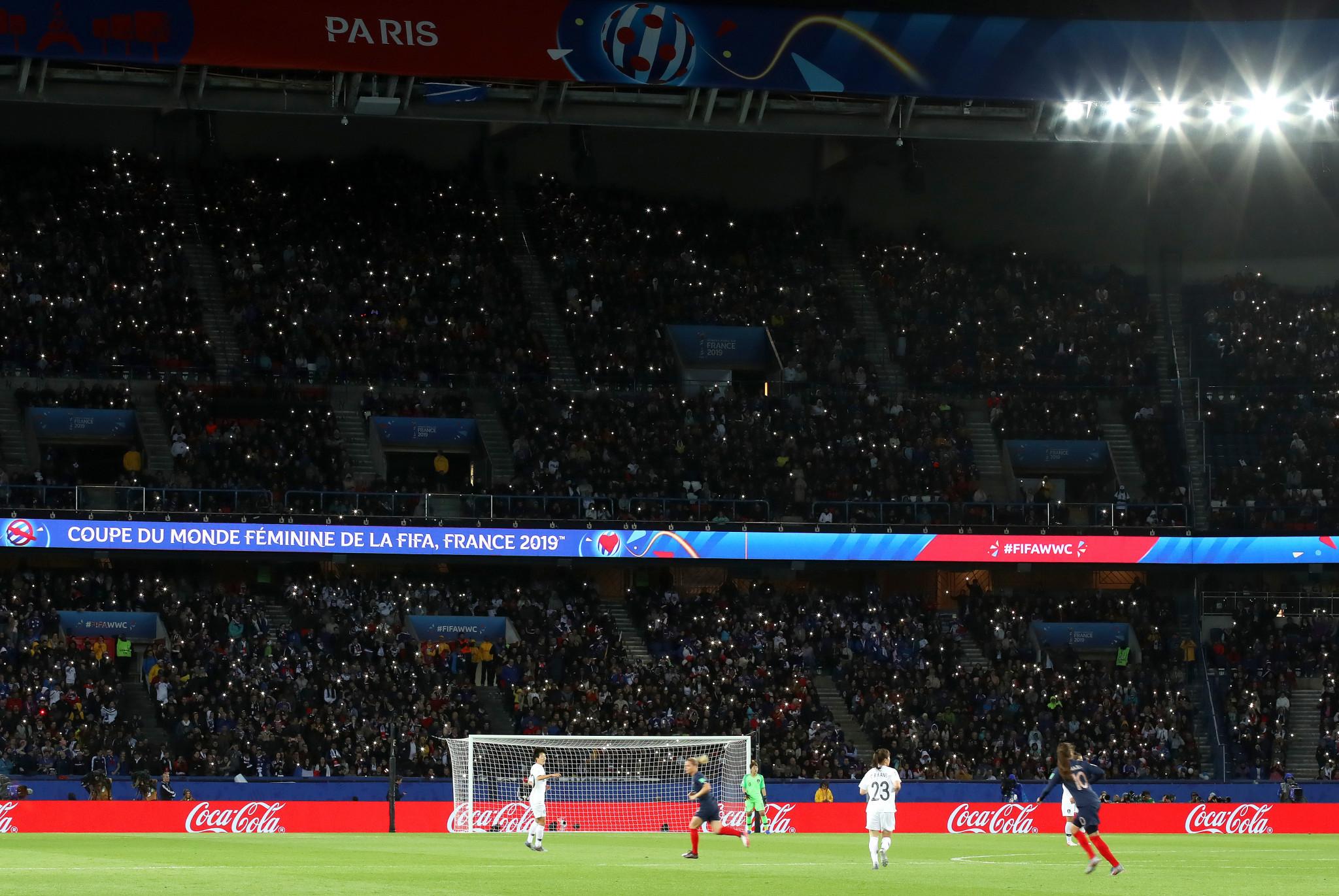 In total, 45,261 fans were in attendance at Paris's Parc des Princes ©Getty Images