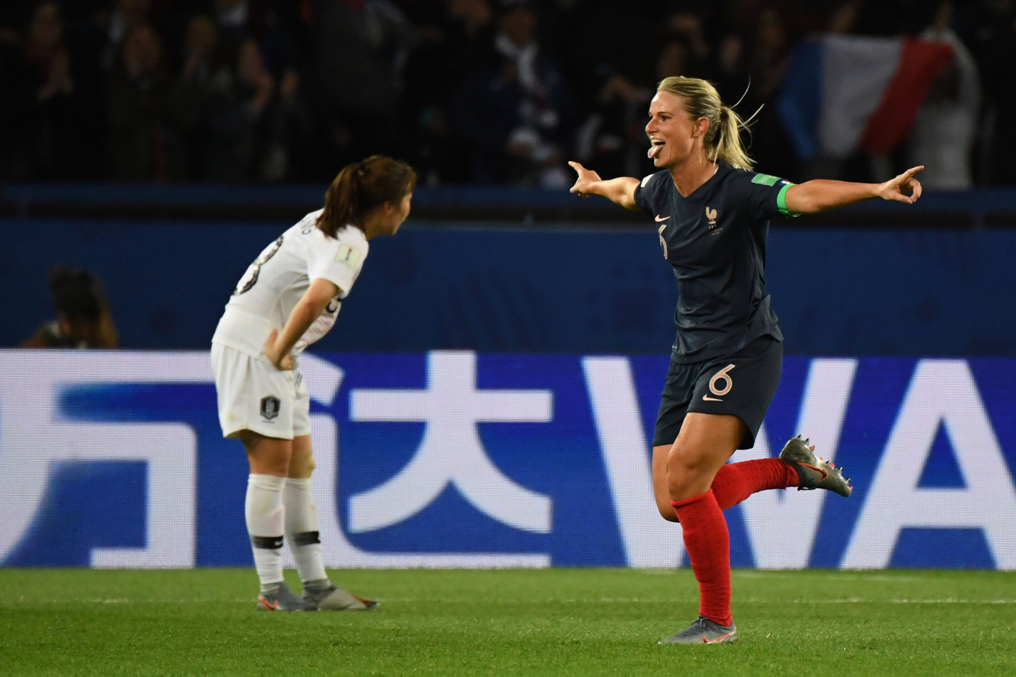 Her goal confirmed France's victory in their opening match as hosts ©Getty Images