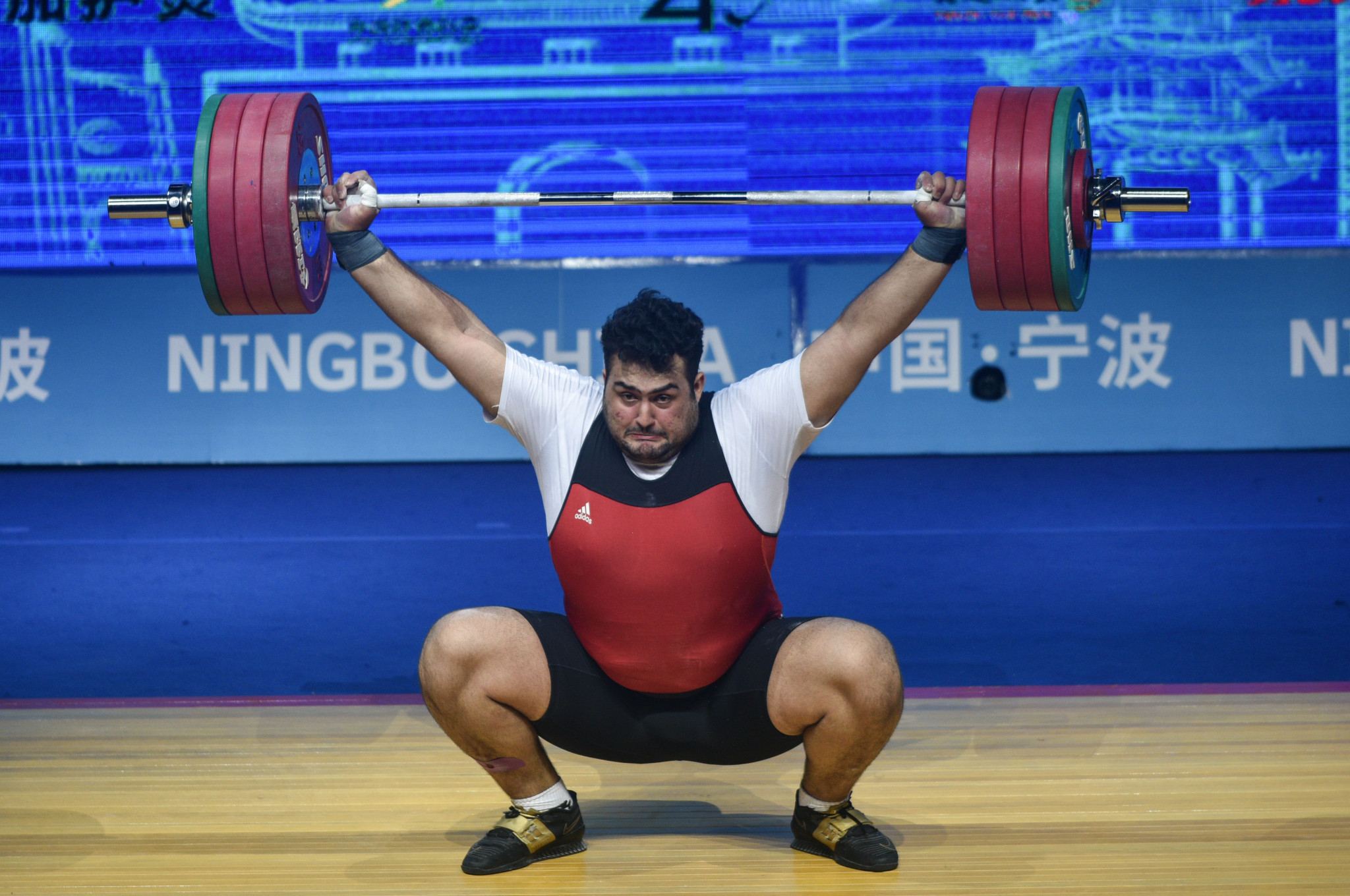 Ali Davoudi of Iran missed out on the super-heavyweight crown ©Getty Images