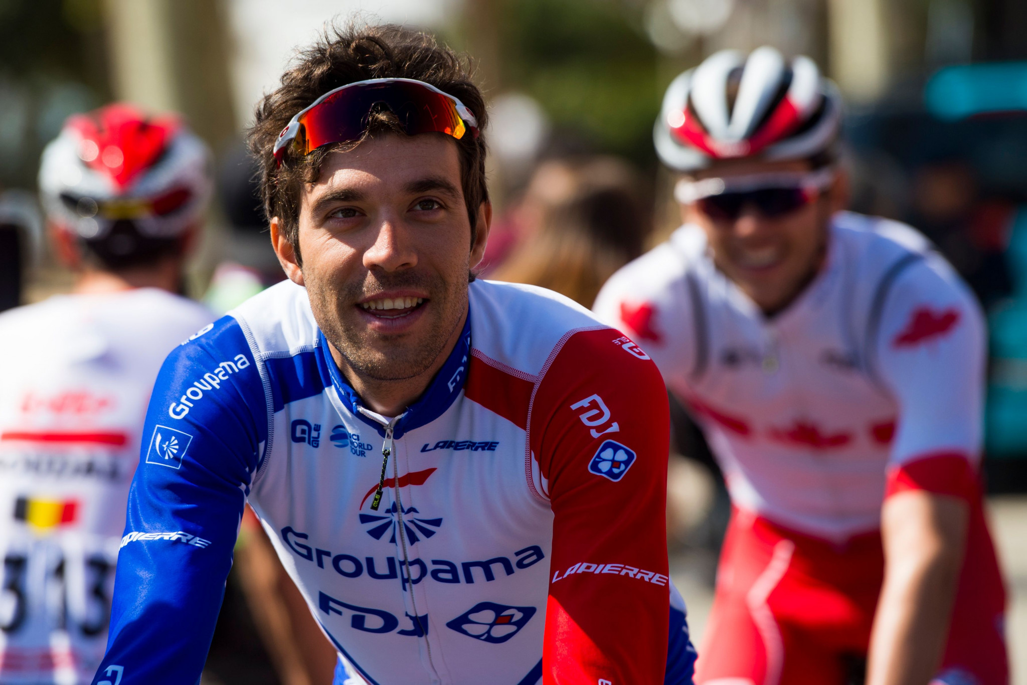 Thibaut Pinot of France is excited to get the 2019 Critérium du Dauphiné under way in Aurillac, France ©Getty Images