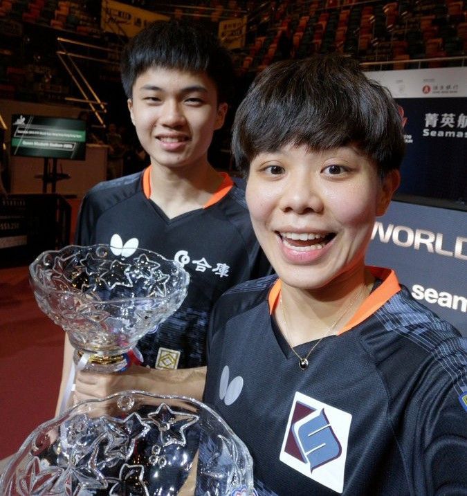 Lin Yun-Ju and Cheng I-Ching of Chinese Taipei secured their second straight major title with victory in the mixed doubles event ©ITTF/Twitter