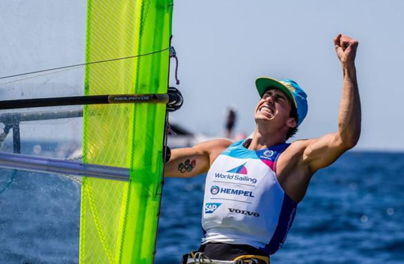 Italy's Mattia Camboni took top honours in the RS:X medal race at the World Sailing World Cup Series Final in Marseille ©World Sailing
