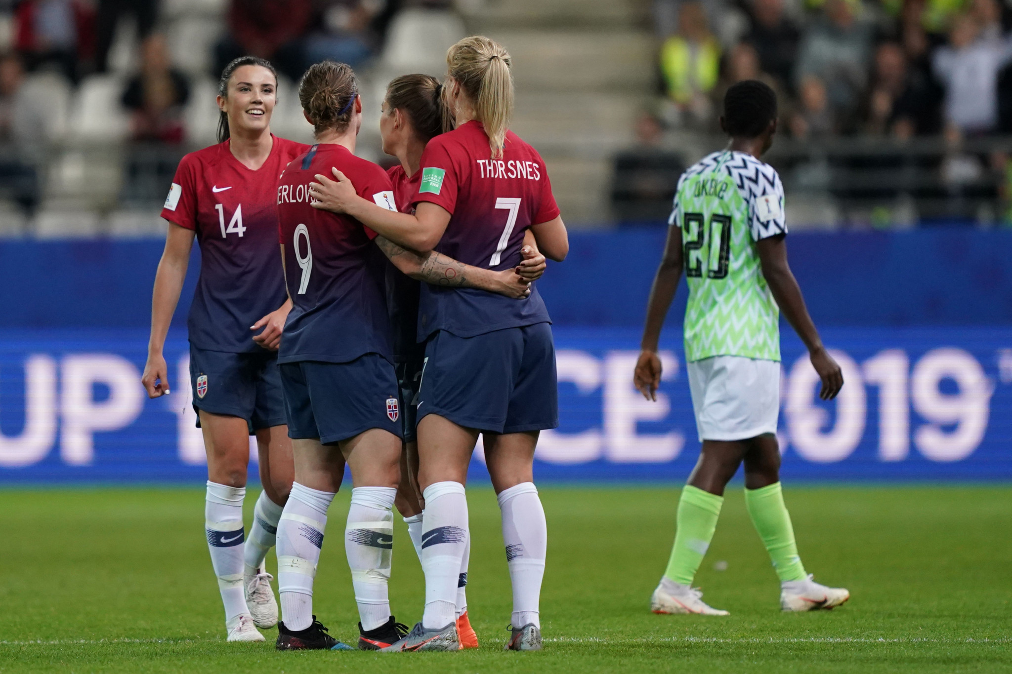 An own goal from Nigeria's Osinachi Ohale secured the 3-0 victory for Norway ©Getty Images