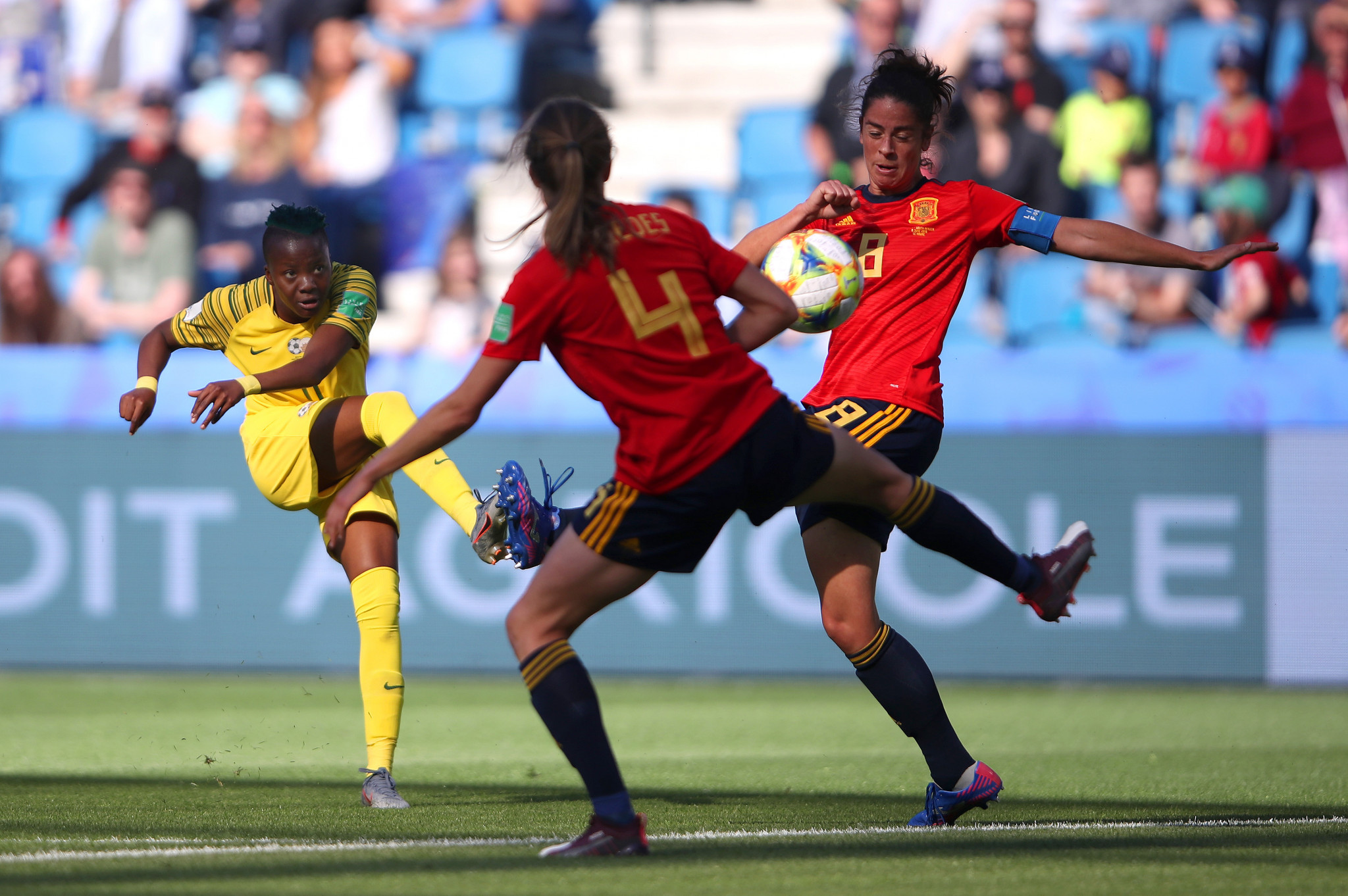In the Group B clash between South Africa and Spain, Thembi Kgatlana scored an impressive opener for South Africa ©Getty Images