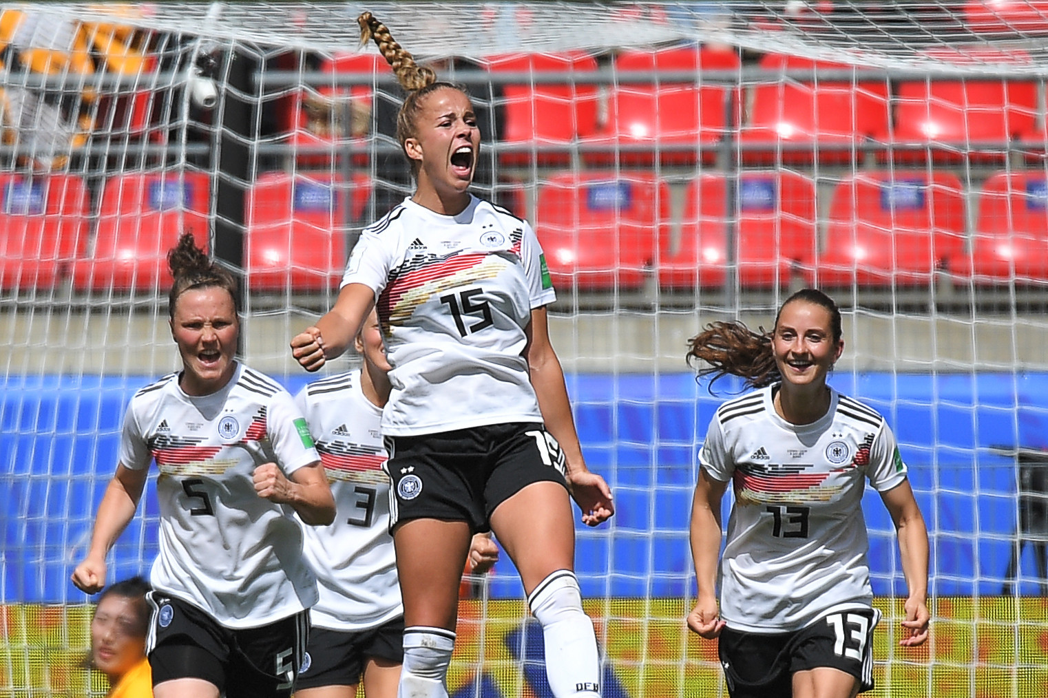 Teenager Giulia Gwinn scored the only goal of the game on her competitive debut for Germany ©Getty Images
