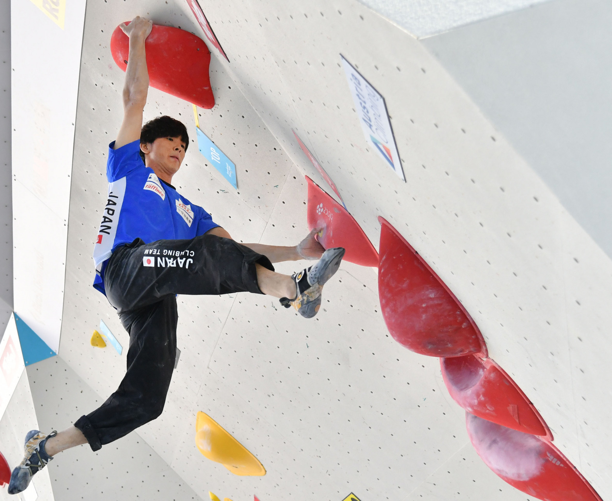 Tomoa Narasaki of Japan overtook Czech climber Adam Ondra to clinch the International Federation of Sports Climbing Bouldering World Cup in the United States ©Getty Images