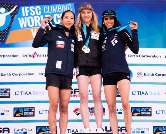 Slovenia's Janja Garnbret took a sixth win from six as she completed a dream season in Colorado ©IFSC