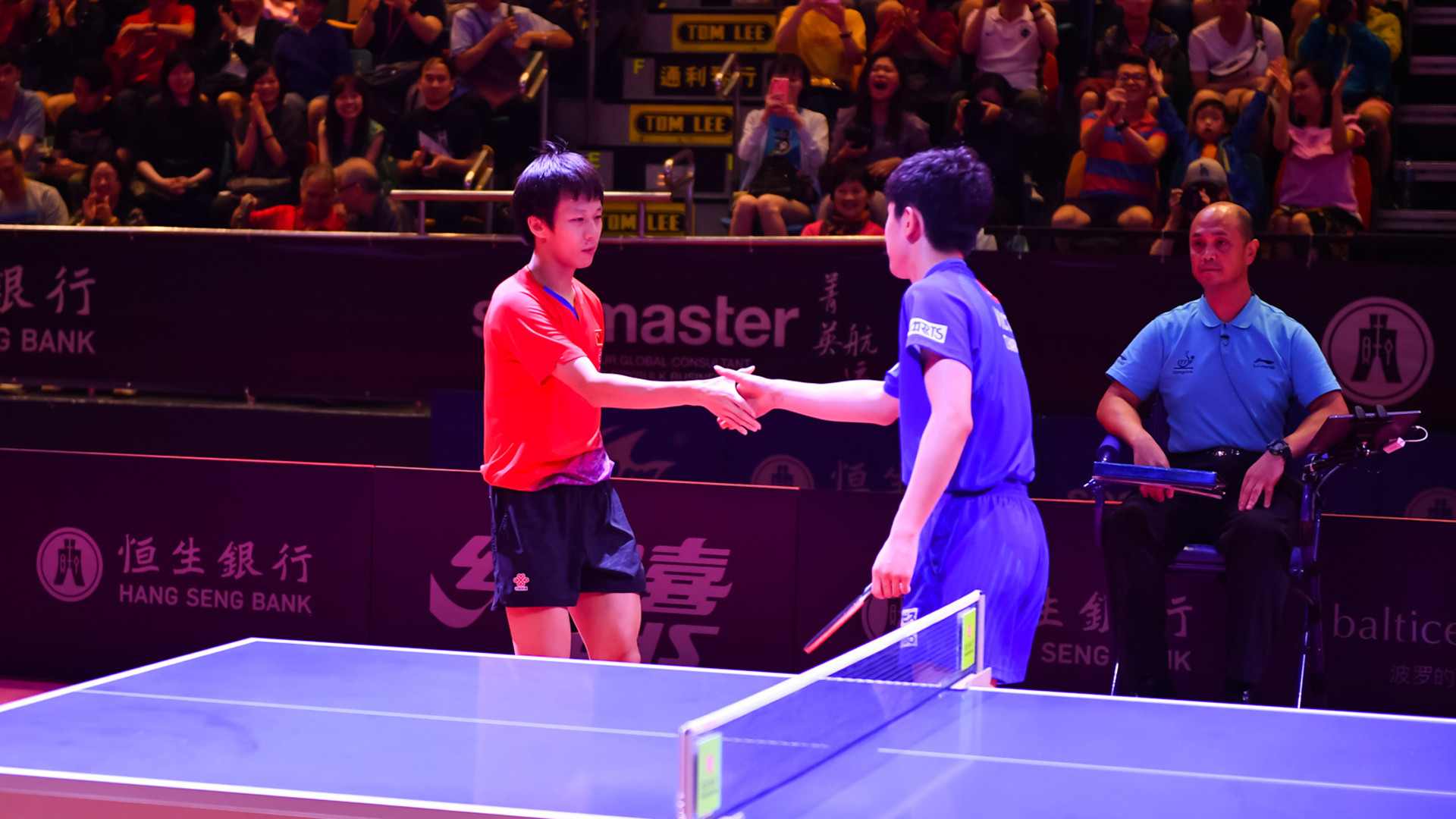 Lin Gaoyuan overcame Japan's Tomokazu Harimoto in the men's singles final ©ITTF
