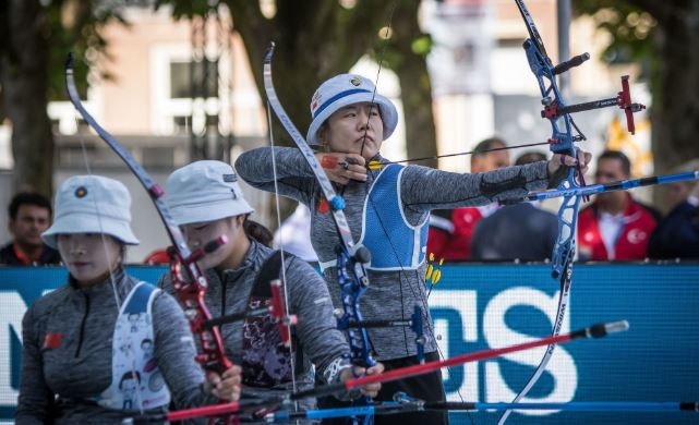 China won a third successive women's recurve World Championships in 's-Hertogenbosch ©World Archery