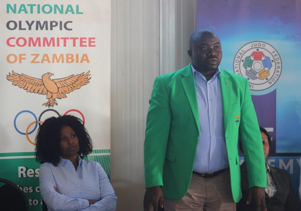 National Olympic Committee of Zambia President welcomes IJF experts to training course in Lusaka