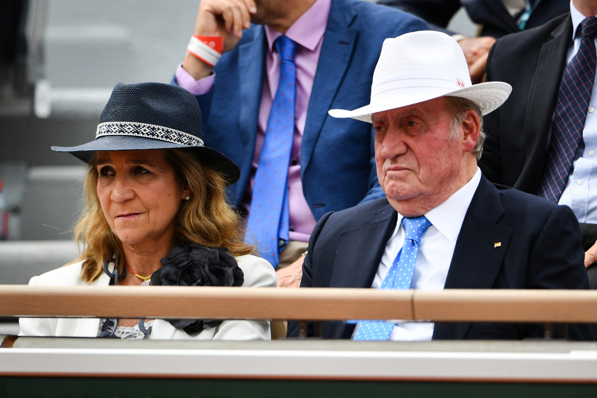 Spain's former king Juan Carlos and his wife Queen Sofia attend the men's singles final ©Getty Images