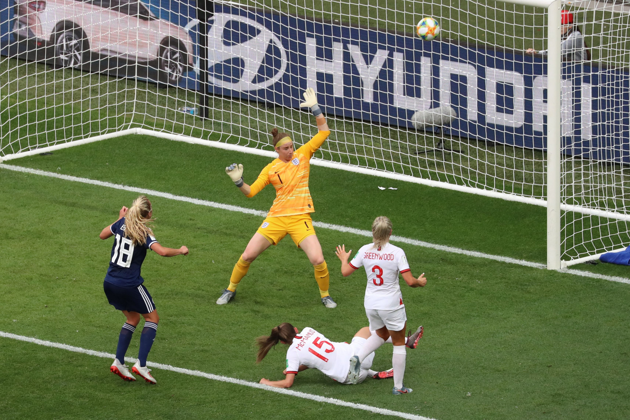 Claire Emslie pulled one back for Scotland, the nation's first-ever Women's World Cup goal ©Getty Images
