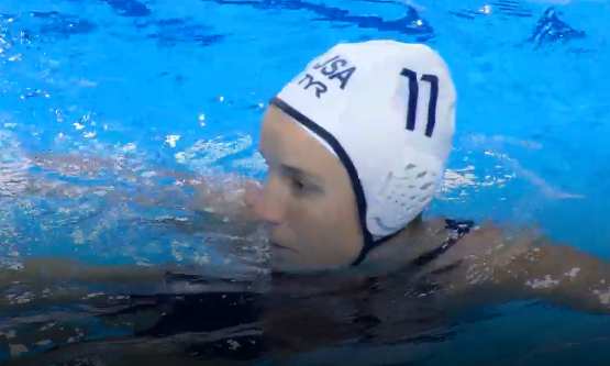 Makenzie Fischer proved to be the star for the US with four goals ©FINA
