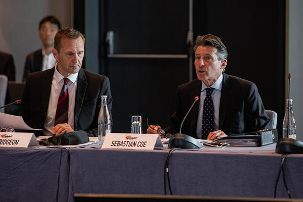 IAAF President Sebastian Coe predicted a great IAAF World Championships at Oregon in 2021 but admitted there were challenges ahead ©IAAF