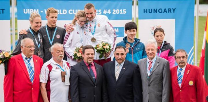 Hungary secured their second gold of the weekend by winning the mixed team relay event ©International Modern Pentathlon Union