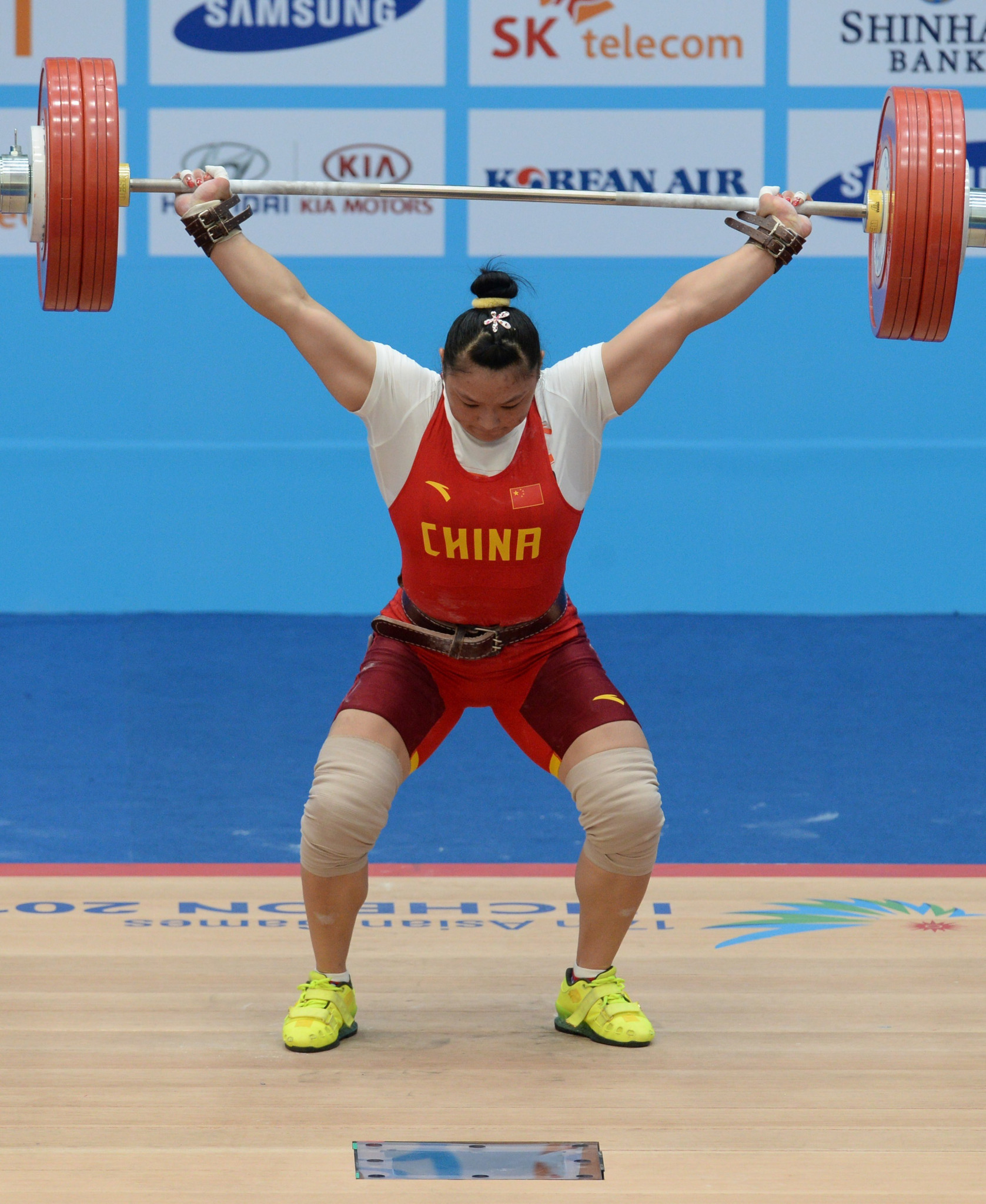 Chinese lifter Kang Yue was in terrific form in Coventry ©Getty Images