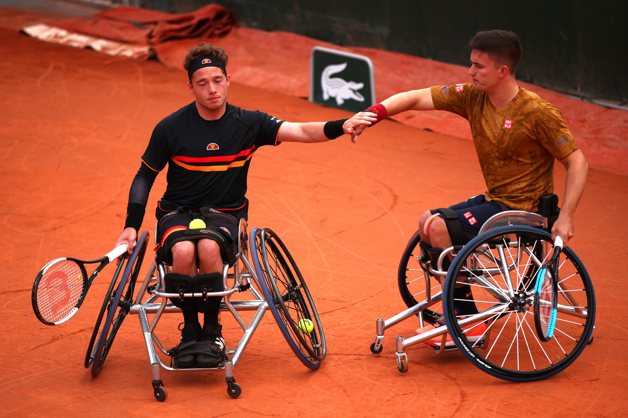 British pair Gordon Reid and Alfie Hewett lost the men's French Open wheelchair doubles final to Gustavo Fernandez of Argentina and Japan's Shingo Kunieda ©Getty Images